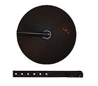 Окучник дисковый ∅390мм для мотоблока (короткая круглая стойка(пара) Премиум