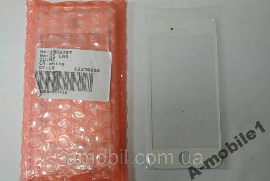 Стекло Apple iPhone 5G 5C 5S White качество