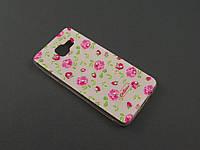 Чехол Diamond TPU для Samsung Galaxy A3 2016 A310f белый принт Розы