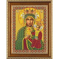 """Рисунок на ткани для вышивания бисером """"Богородица Ченстоховская"""" Бис 1211 Новая Слобода"""