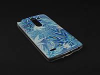Чехол Diamond TPU для LG Optimus G3 Stylus D690 синий принт