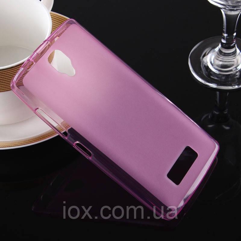 Розовый силиконовый чехол с матовым покрытием для Lenovo А2010