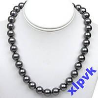 Ожерелье ЧЕРНЫЙ Жемчуг--ААА.-12 мм-750пр-Австралия