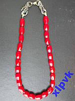 Ожерелье ТИБЕТ,25 Красных Кораллов-ИНДИЯ-ЭКСКЛЮЗИВ