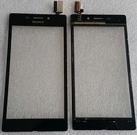 Оригинальный тачскрин / сенсор (сенсорное стекло) для Sony Xperia M2 Aqua D2403   D2406 (черный цвет)