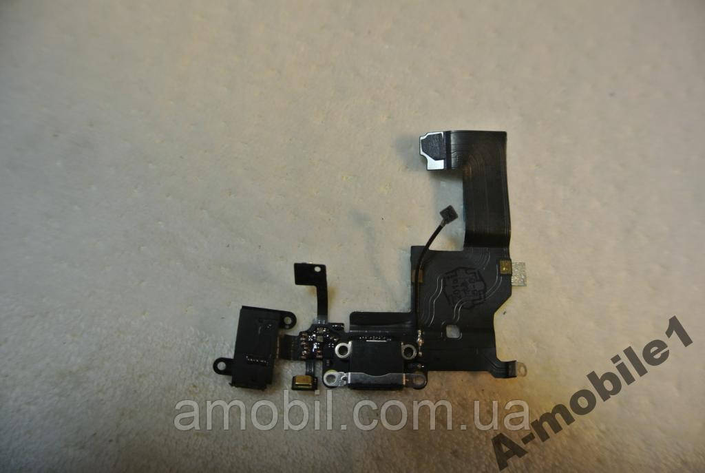 Шлейф iPhone 5 charger connector Black orig