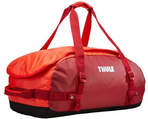 Отличная дорожная спортивная сумка на плечо 40 л. Thule Chasm 221103 красный
