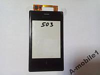 Сенсор Nokia Asha Dual 503 / 5030 orig + самоклейка