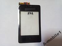 Сенсор Nokia Asha Dual 502 / 5020 Synaptics orig + рамка