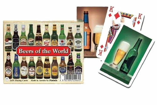 Комплект - игральные карты Piatnik Beers of the Word 2 колоды по 55 листов
