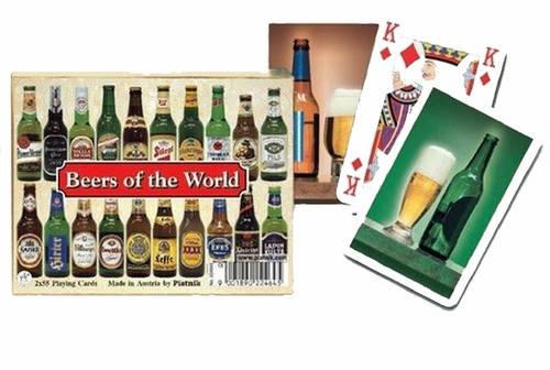 Комплект - игральные карты Piatnik Beers of the Word 2 колоды по 55 листов, фото 2