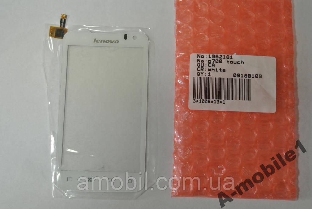 Сенсор Lenovo P700 White high copy