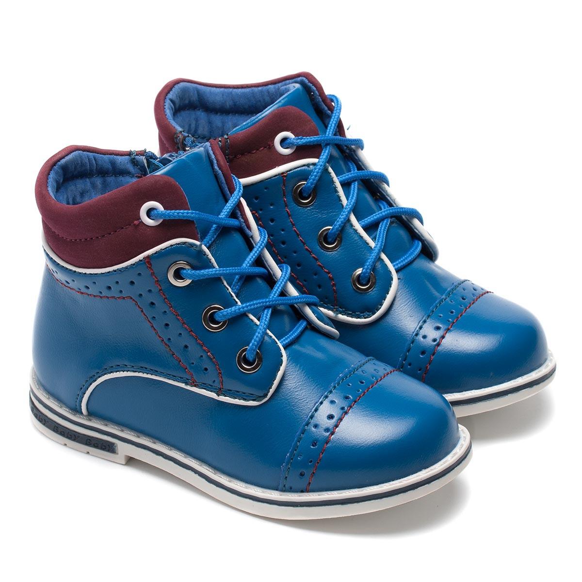 Синие демисезонные ботинки B&G для мальчика
