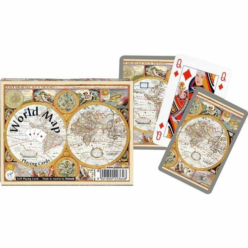 Комплект - игральные карты Piatnik World Map, 2 колоды по 55 листов