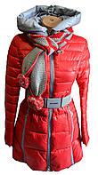 Куртка женская зима с шарфом
