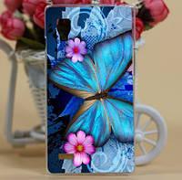 Силиконовый чехол бампер для LG L9 Optimus P760 P765 с картинкой Бабочка