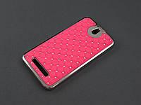 Чехол Diamond для HTC Desire 500 506e розовый