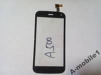 Сенсор Explay A500 orig черный+самоклейка