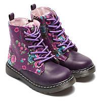 Демисезонные ботинки B&G, для девочки, на шнуровке, размер 23-28
