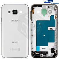 Корпус для Samsung Galaxy E5 E500H/DS, с боковыми кнопками, оригинальный (белый)