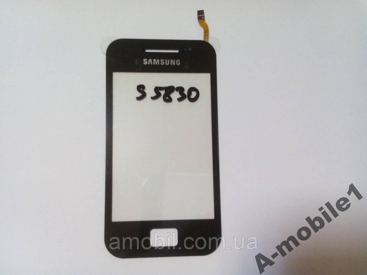 Сенсор Samsung S5830 черный + самоклейка orig
