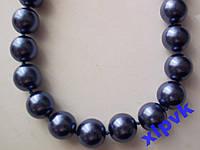 Ожерелье Темно-Синий Жемчуг-12 мм-18k GP-Австралия