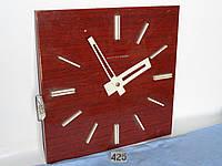 Часы УЧС 03-345 (деревянный полированный корпус 400х400 - для помещений - односторонние)