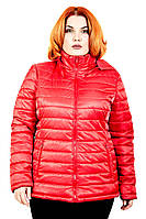 """Стильная куртка большого размера""""Джина"""" (красный), фото 1"""
