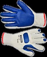 Перчатки L-XL крупная вязка, текстурный уплотненный латекс TECHNICS