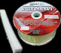 Ущільнювач пінополіетиленовий 5*8,5 мм ВІКНО (100 м) білий, фото 1