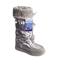 Сапоги-дутики женские Аляска (серебро)