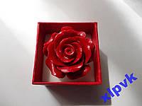 Кольцо Коралл Темно-Красный-Роза 30мм-Австралия