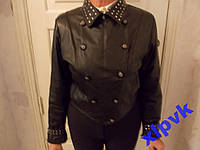Модная Кожаная Куртка,Две в одной,46-48 рр,Италия