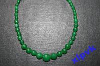 Ожерелье GREEN EMERALD-Зел.Жадеит.6-14 мм,.ИНДИЯ