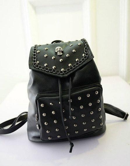 женский рюкзак с черепками
