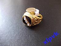 Перстень-Печатка 3 камня -18 р-ИНДИЯ- РАСПРОДАЖА