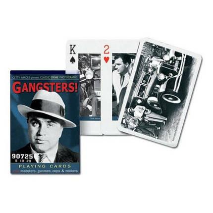 Карты игральные Piatnik Gangsters Bridge, 55 листов, фото 2