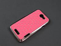 Чехол Diamond для HTC One X s720e розовый