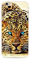 Силиконовый чехол Гепард с эффектом масляной живописи для Iphone 6/6S