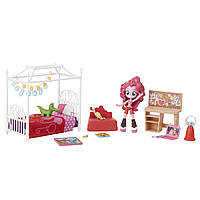 Hasbro My Little Pony Игровой набор мини-кукол Equestria Girls Пижамная вечеринка Пинки Пай