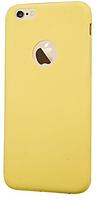 Чехол силиконовый Joyroom TPU with Logo с заглушками для iPhone 6/6s Yellow