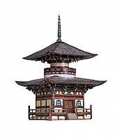 Картонная модель Пагода Хонпо-дзи 327 УмБум