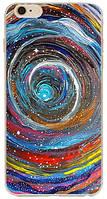 Силиконовый чехол Вселеннная с эффектом масляной живописи для Iphone 6/6S