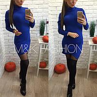 Женское стильное теплое платье-гольф (4 цвета)