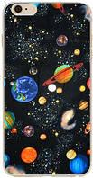 Силиконовый чехол Космос с эффектом масляной живописи для Iphone 6/6S