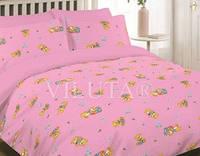 Комплект постельного белья (Детский) ранфорс Viluta 6112 Розовый