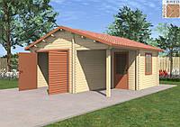Деревянный гараж Гордей