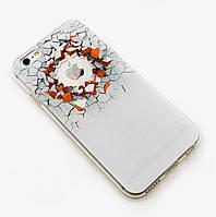 Силиконовый чехол с эффектом масляной живописи для Iphone 5/5S