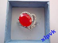 Кольцо натуральный рубин.Овал 1 2х 10 мм,17.5р-925-ИНДИЯ