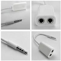 Переходник кабель сплитер для наушников 3,5, S126
